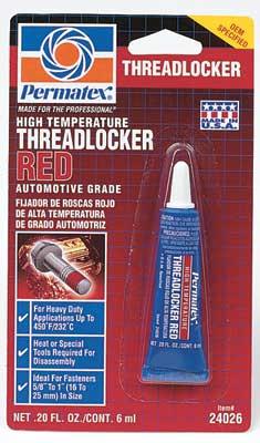 PERMATEX - Фиксатор резьбы сильной фиксации красный высокотемп. 6г  24026