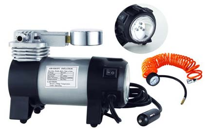 Компрессор AIRLINE РROFESSIONAL с манометром и фонарем (35 л/мин, 10 атм) (CA03503)