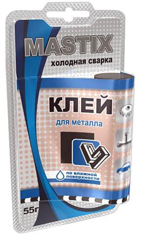 MASTIX -  Клей для металла в БЛИСТЕРЕ 55 г холодная сварка  MC-0110