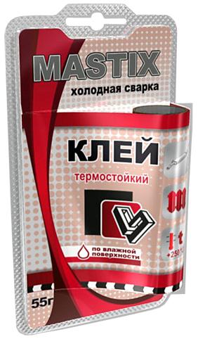 MASTIX -  Клей термостойкий в БЛИСТЕРЕ 55 г холодная сварка  MC-0115