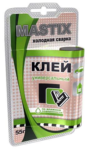 MASTIX -  Клей универсальный в БЛИСТЕРЕ 55 г холодная сварка  MC-0117