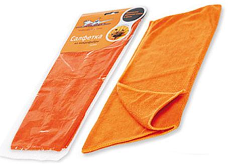 Салфетка из микрофибры AIRLINE оранжевая (35х40 см) (ABA02)