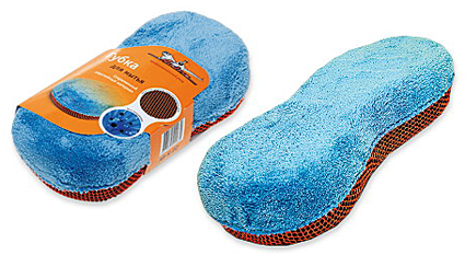 Губка для мытья машины AIRLINE Микрофибра и коралловая ткань (ABK02)