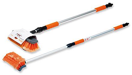 Щетка для мытья AIRLINE длина щетки 25см,телескоп. ручки 168см,с насадкой для шланга ABH01 $