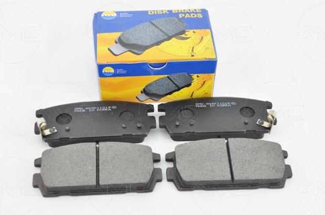 Колодки тормозные задние дисковые HYUNDAI Captiva (C100, C140), Terracan (HP) AMD (BF166)