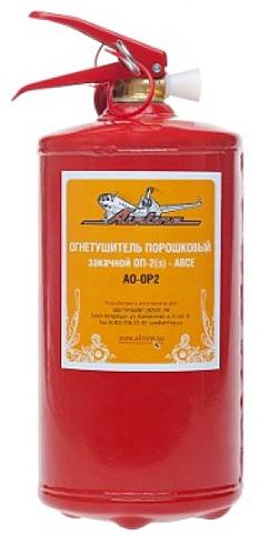 Огнетушитель ОП-2  2 кг порошковый с манометром AIRLINE  AOOP2  $