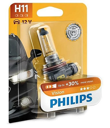 Лампа H11  12V 55W PHILIPS Premium+30% 12362PRB1