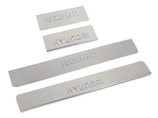 Накладки внутренних порогов DOLLEX HYUNDAI ix35 c 2013- (к-т 4 шт) (NPS012) нерж. сталь