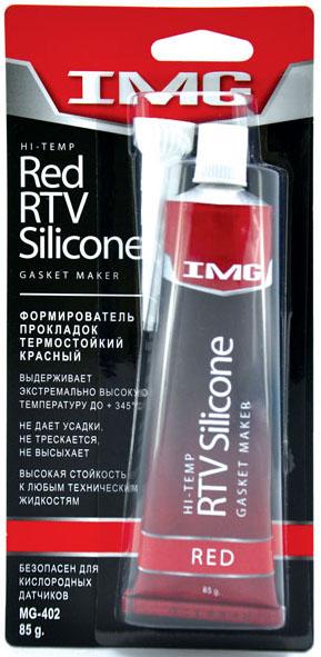Герметик-прокладка  85гр IMG  RTV ТЕРМОСТОЙКИЙ красный  MG402