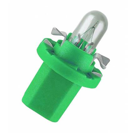 Лампа А 12-2 B8.5D GENERAL ELECTRIC green (91655PS)