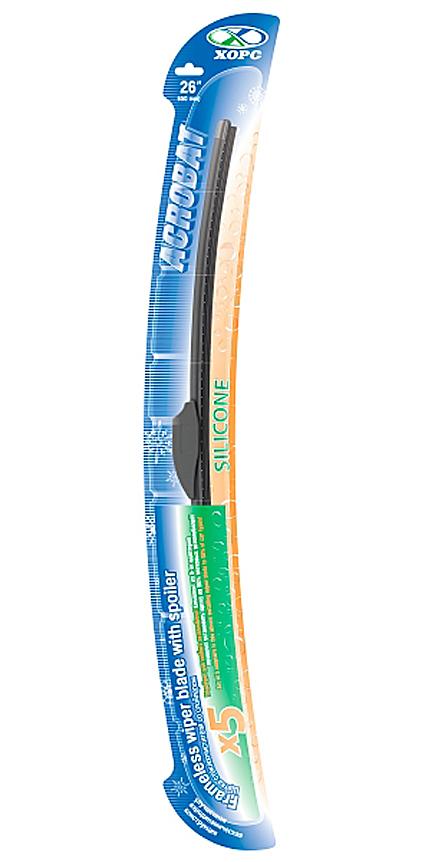 Щетка стеклоочистителя бескаркасная 650 мм (26) ХОРС АКРОБАТ 07171