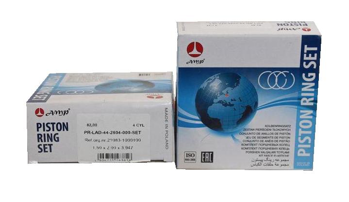 Кольца поршневые ВАЗ 82,0 AMP (PR-LAD-44-2804-000-SET)