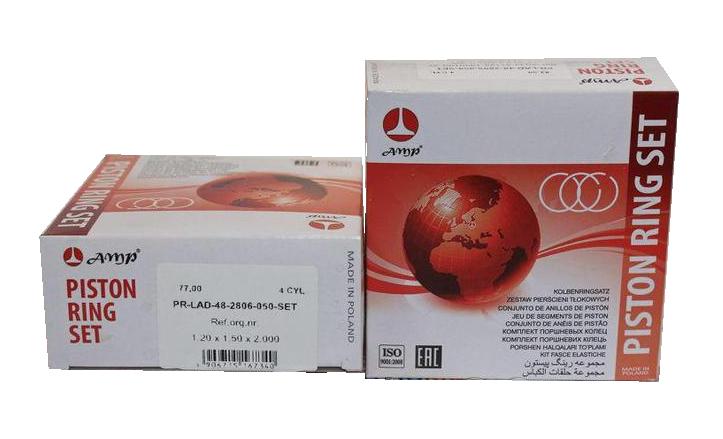 Кольца поршневые ВАЗ 77,0 (11194) для ВАЗ-1118 AMP (PR-LAD-48-2806-050-SET)