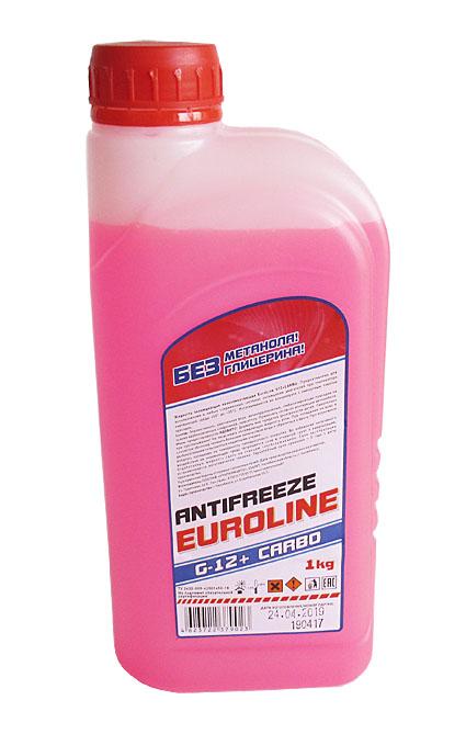 Антифриз EuroLine G-12 -40 красный  1кг основа МЭГ