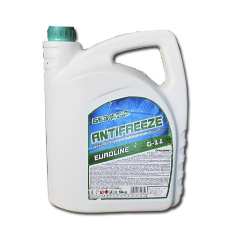 Антифриз EuroLine G-11 -40 зелёный  4.5 кг основа МЭГ