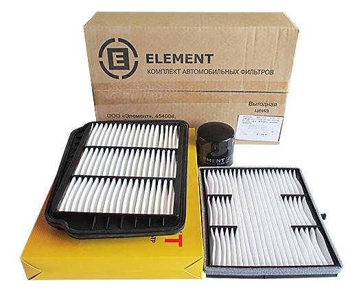 Комплект фильтров (масл.+возд.+салон.) CHEVROLET Lacetti  дв1.4 V16ELEMENT (EOAC115)