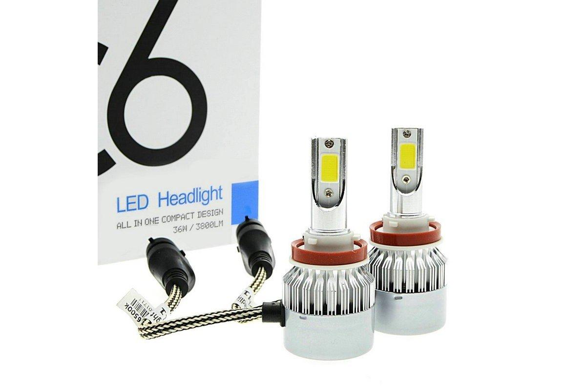 Лампы светодиодные H11  8-48V 36W 3800Lm/6000K C6 2шт