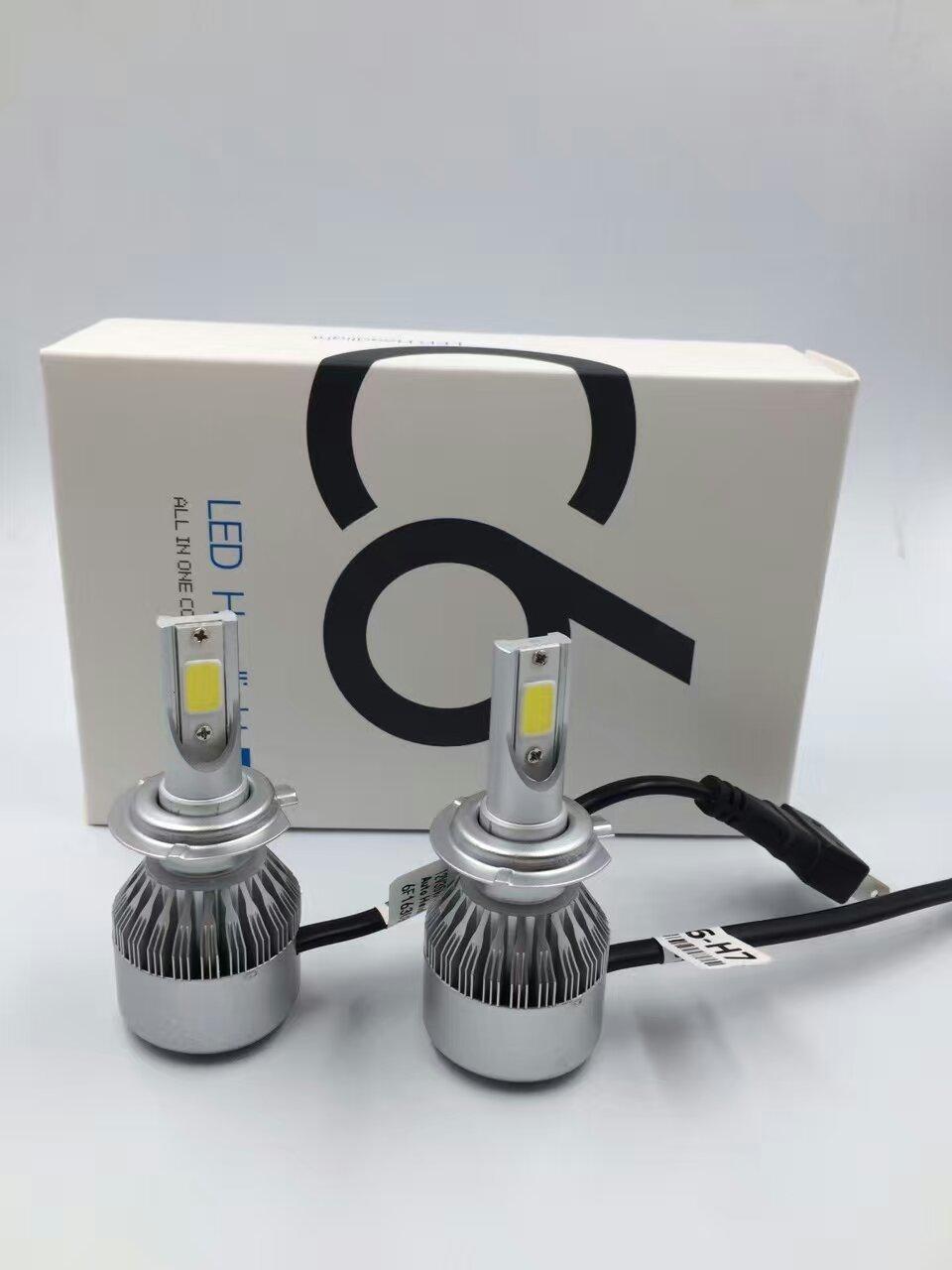 Лампы светодиодные H 7  8-48V 36W 3800Lm/6000K C6 2шт