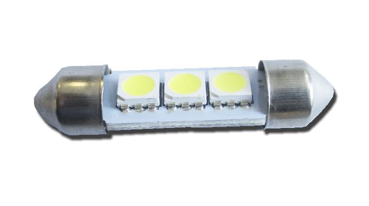 Светодиодная Лампа 12V C5W 3SMD 5050 36мм GrandeLight GL-12-C5W-3SMD-5050 фас.10шт