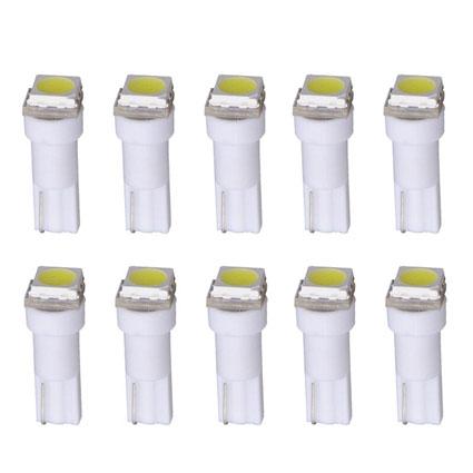 Светодиодная Лампа 12V T5 1SMD 5050 белая GrandeLight GL-12-T5-1SMD 5050-W фас.50шт