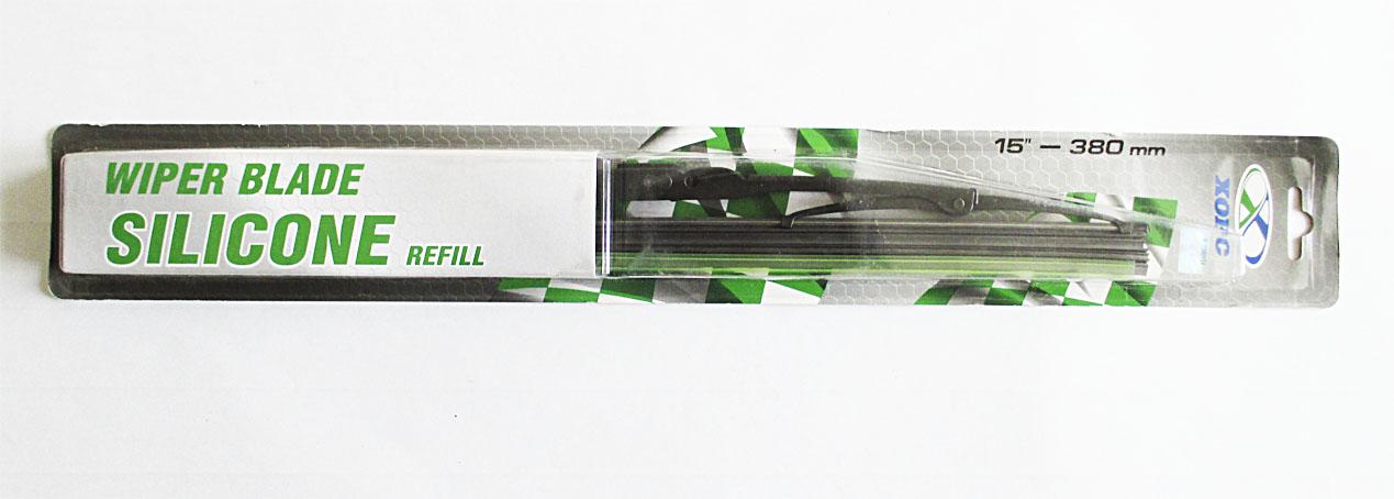 Щетка стеклоочистителя каркасная 380 мм (15) ХОРС силикон