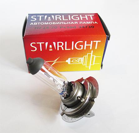 Лампа H 7  24V 70W ТМ StarLight (34730)