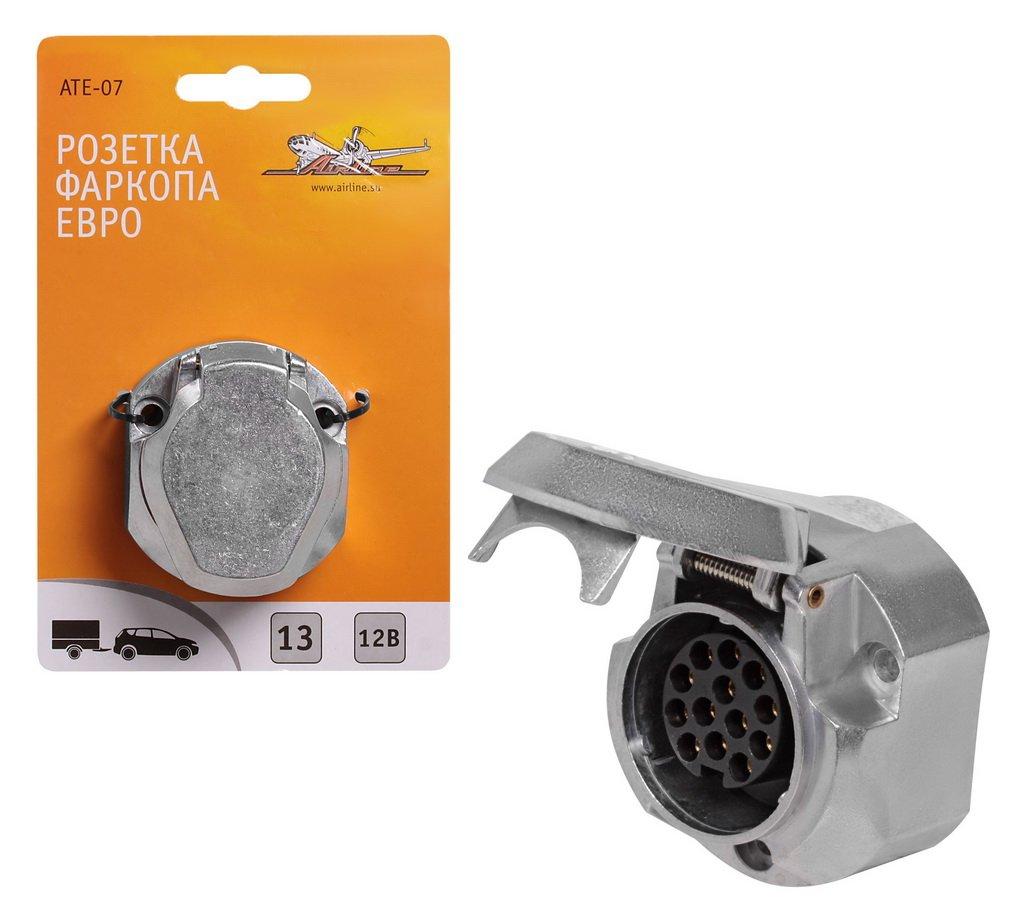 Разъем для ТСУ (розетка) металл 13 контактов ЕВРО   AIRLINE (ATE07)