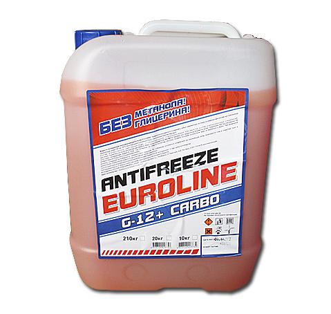 Антифриз EuroLine G-12 -40 красный 10кг основа МЭГ