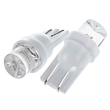 Светодиодная Лампа 12V T10 W5W 1LED белая GrandeLight GL-12-T10-1LED-W фас.10шт