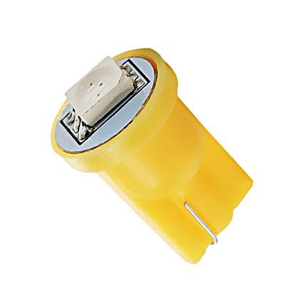 Светодиодная Лампа 12V T10 W5W 1SMD 5050 жёлтая GrandeLight GL-12-T10-1SMD-5050-Y фас.10шт