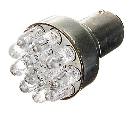 Светодиодная Лампа 12V S25 1156 BA15S 12 LED GrandeLight GL-12-S25-BA15s-12LED фас.10шт