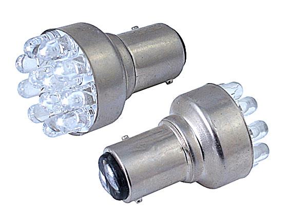 Светодиодная Лампа 12V 1157 BAY15d 12 LED GrandeLight GL-12-S25-BAY15d-12LED фас.10шт