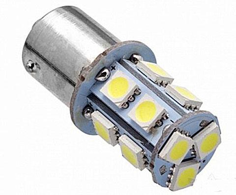 Светодиодная Лампа 12V 1156 BA15s 13 SMD 5050 GrandeLight GL-12-S25-BA15s-13SMD-5050 фас.10шт