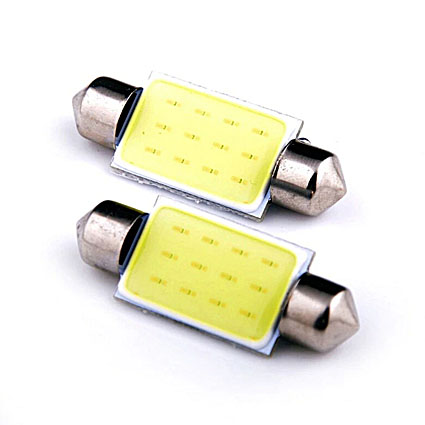 Светодиодная Лампа 12V C5W COB 41мм GrandeLight GL-SV8.5-COB-41 фас.10шт