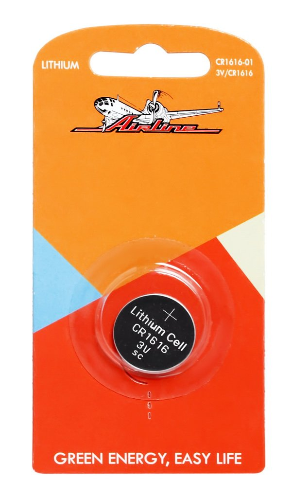 Батарейка CR1616 3V для брелоков сигнализаций литиевая  AIRLINE  CR161601 1шт.