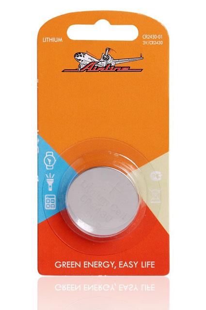 Батарейка CR2430 3V для брелоков сигнализаций литиевая  AIRLINE  CR243001 1 шт.