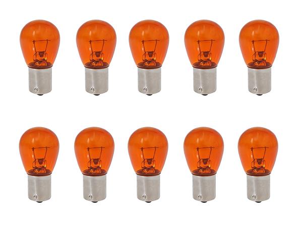 Лампа А 24-21 BAU15S GrandeLight ORANGE смещ. цоколь фас.10шт