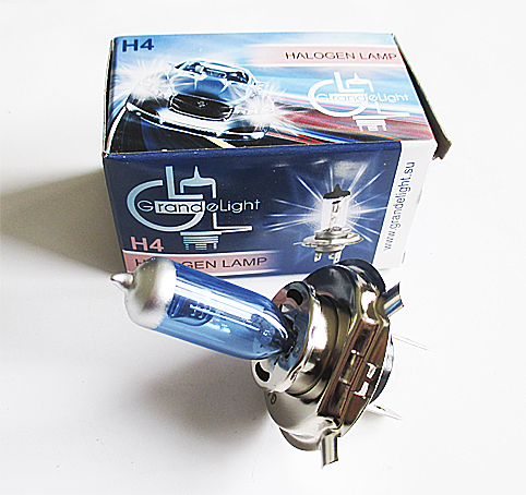 Лампа H 4  12V 60/55W Blue P43 GrandeLight GL-H4-12-60-55B