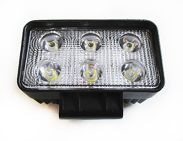 Фара светодиодная 12-24V 18W 6 LED направленый свет 110*78*50мм GL8001