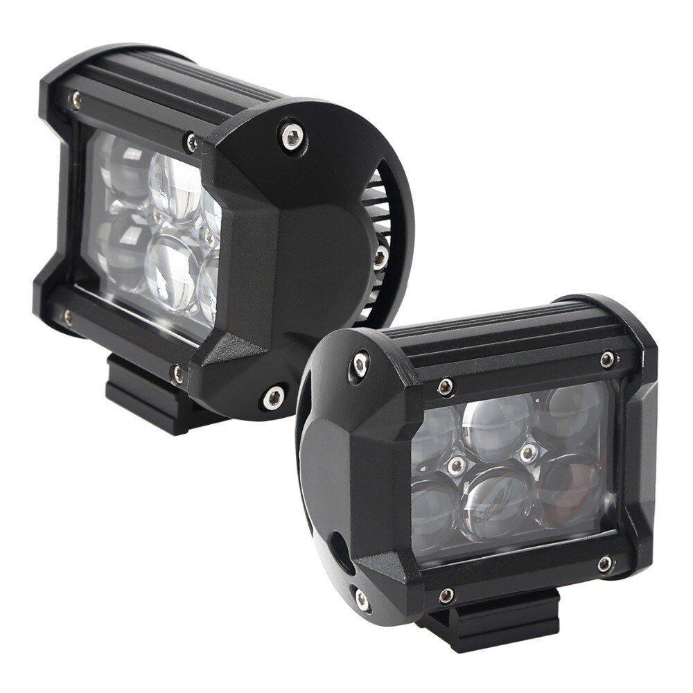 Фара светодиодная 12-24V 18W 6 LED направленый свет линза 95*55*70мм GL8024
