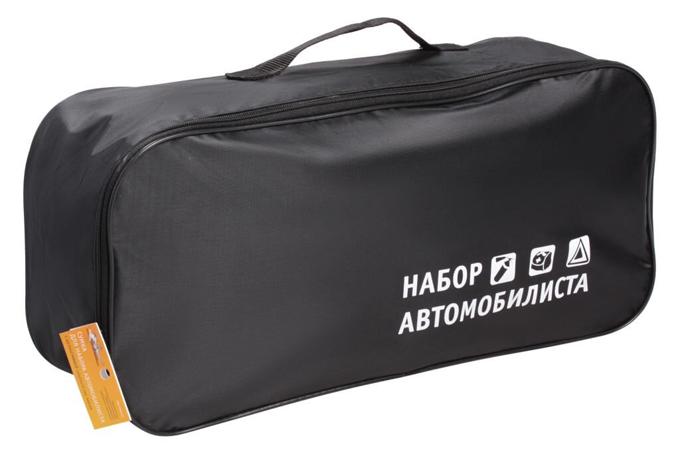 Сумка для ТО Набор автомобилиста (45х15х15) пустая, с шелкографией, черная AIRLINE (ANABAG01)  $