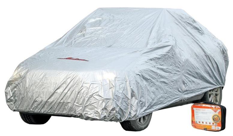 Защитный чехол-тент на автомобиль S 455х186х120см серый молния для двери  AIRLINE  ACFC01