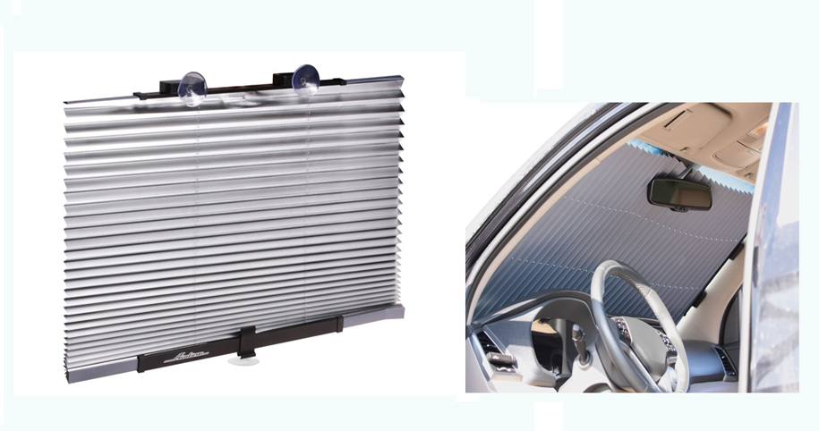 Шторка на лобовое/заднее стекло, светоотражающая, раздвижная (80 см) AIRLINE (ASPSFB02)