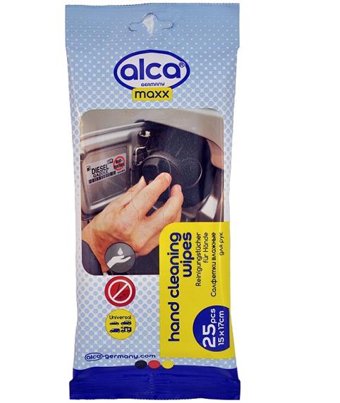 Салфетки влажные ALCA MAXX для рук (25 шт) (810220)