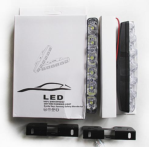 Дневные ходовые огни 6 LED 12v линза (155*33*18) мм GL4007