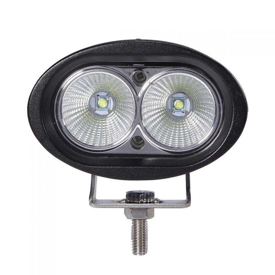 Фара светодиодная 12-24V 20W 2 LED рассеиваемый свет  90*98*72мм GL8031