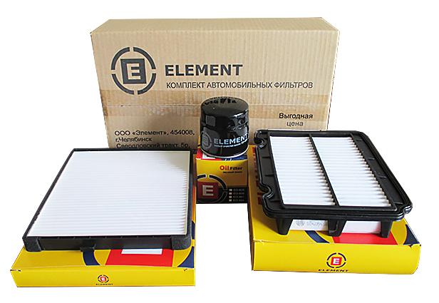 Комплект фильтров (масл.+возд.+салон.) CHEVROLETAVEO 1,4/1,5/1,6 16V ELEMENT (EOAC119)