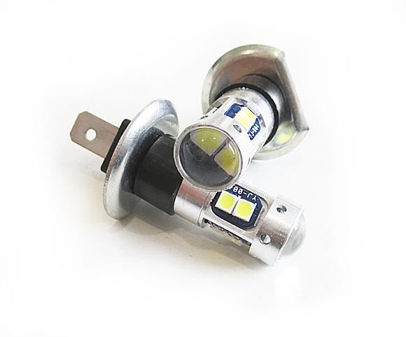 Светодиодная Лампа H 1 12/24V 9 SMD 3030 с линзой GrandeLight GL-12-24-H1- 9SMD-3030-L фас.2шт