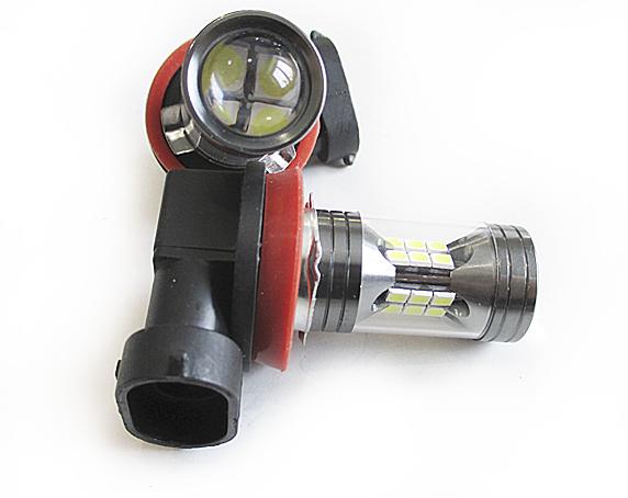 Светодиодная Лампа H11 12/24V 22 SMD 3030 с линзой GrandeLight GL-12-24-H11- 22SMD-3030-L фас.2шт