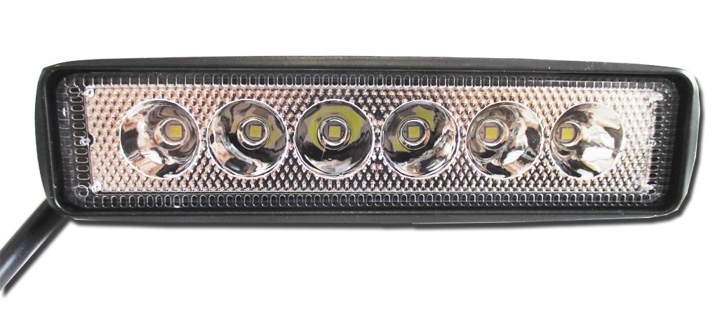 Фара светодиодная 12-24V 18W 6 LED направленный свет 150*40*40 мм GL8061